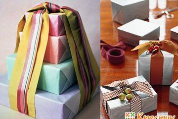 Как упаковать подарок упаковочной лентой
