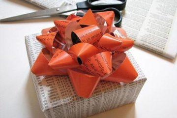 Как красиво завязать бант на подарке