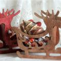 Деревянные сани под подарок (большие) – Стильная упаковка