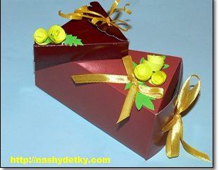 """Купить новогоднюю упаковка """"Тортик"""""""