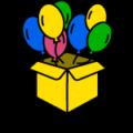 Коробка с шарами на день рождения купить с доставкой в Москве